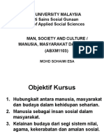 Man, Society and Culture Introduction