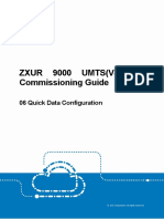 ZXUR 9000 UMTS(V4.14.10) Commissioning Guide-06 Quick Data Configuration_R1.1