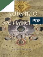 Lunario, Ore Planetarie 2017