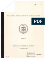 CIA Psychiatric Personality Study of Fidel Castro (1961)