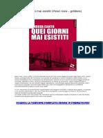 [ SCARICA ] Quei Giorni Mai Esistiti (Pesci Rossi - GoWare) PDF
