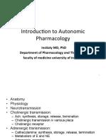 Lect-Insti-Introduction to Autonomic Pharmacology 2015