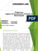 Impact of Construction of Dams on Environment