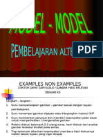 Model - Model Pelajaran Alternatif - Sofyan