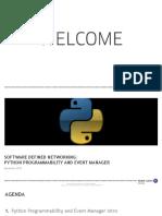Python Programmability SE Remote Demo Presentation v 1.0