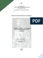 Teorias e Métodos de Investigação