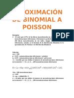 Aproximación de Binomial a Poisson