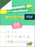 Cahier d'Écriture - Grande Section