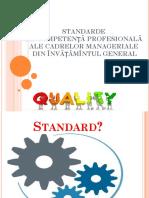 Prezentare - Standarde Cadrele Manageriale