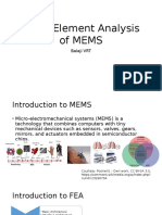 Finite Element Analysis of MEMS-1