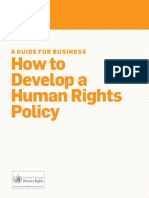 A Guide for Business - How to Develop a Human Rights Policy