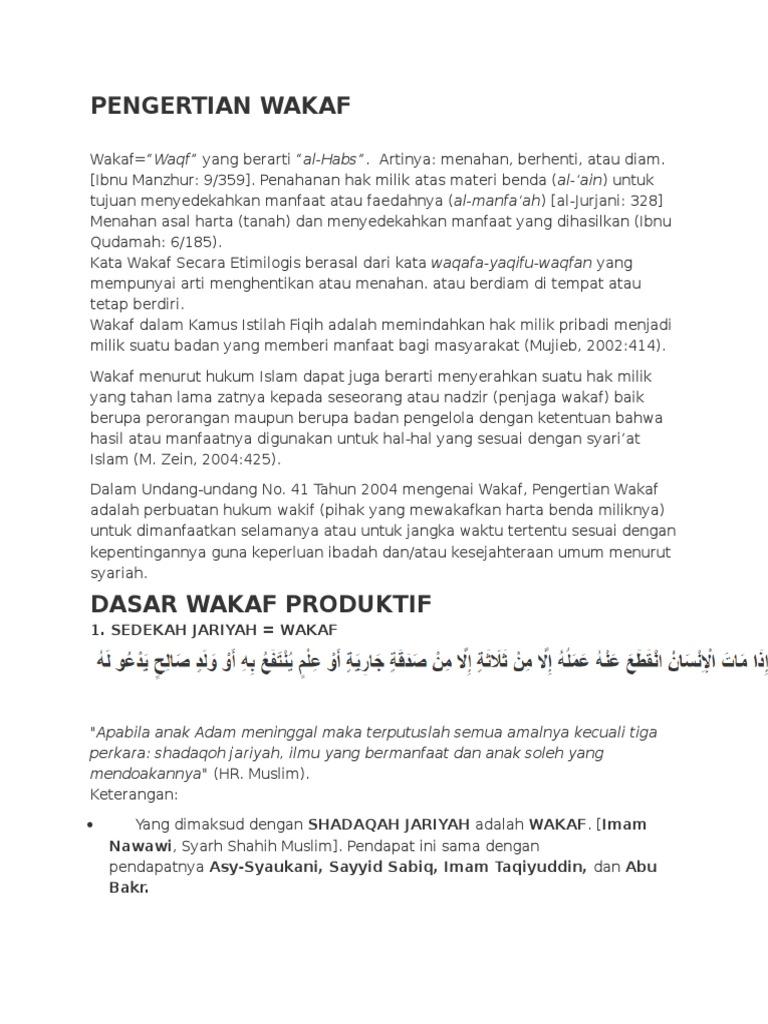 Pengertian Wakaf Sumur Utsman 1535978625v1