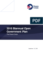 Peace Corps 2016 Open Government Plan