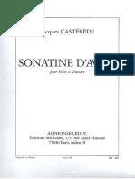 Castérède Jacques - Sonatine pour flûte et guitare