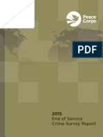 Peace Corps 2015 End of Service Crime Survey Report