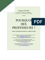 Pourquoi Des Profs - Georges Gusdorf