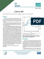 National Vital Statistics Reports 2007
