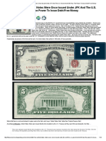 Debt-Free United States Notes Were Once Issued Under JFK and the U.S