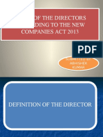 Roles of Director Companies Act 2013