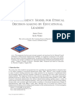 A Contingency Model for Ethical Decision-making by Educational Leaders