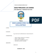 Monografia de Declaracion de Voluntad