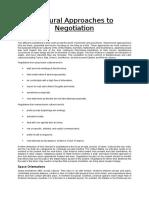 Negociation Approach