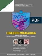 Afiche Musica Rusa