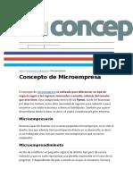 MICROEMPRESA CONCEPTO