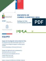 Encuesta Cambio Climatico 2016 CHILE