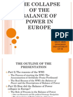 The History of Balance of Power in Europe