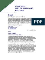 Behague Brazil GroveDictionary