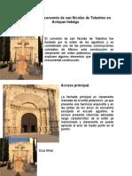 Analisis de El Convento de San Nicolas de Tolentino en Actopan Hidalgo