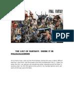 FF Master List