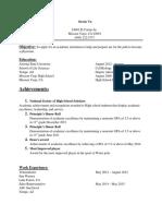 Derek's Resume