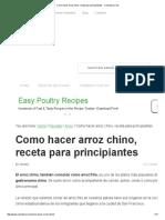 Como hacer arroz chino, receta para principiantes - Comedera.pdf