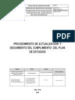 Procedimiento Del Plan-Estudios 2015