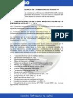Caracteristicas Tecnicas de Los Medidores de Acueducto