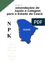 Sugestões de Adubação e Calagem No Estado Do Ceará
