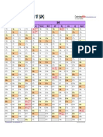 Academic Calendar 2016 2017 Landscape