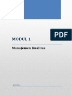 Modul 1 - Manajemen Kualitas