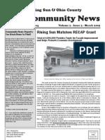 Rising Sun & Ohio County Community News ~ March 2009 Edition