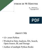 90% of Python in 90 Minutes - Matt Harisson