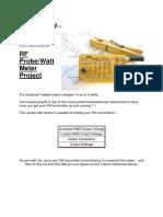 RF Probe-Watt Meter