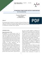 INFORME ANALISIS ESPECTROFOTOMETRICO SIMULTANEO DE DOS COMPONENTES EN UNA MUESTRA