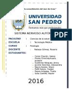 Sistema Autonomo Simpatico y Parasimpatico Trabajo Grupal