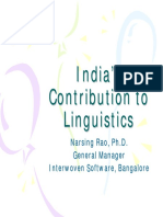 Indian Linguistics