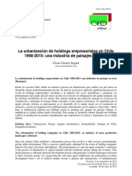 La Urbanización de Holdings Empresariales en Chile