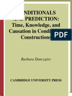 (Cambridge Studies in Linguistics) Barbara Dancygier-Conditionals and Prediction_ Time, Knowledge and Causation in Conditional Constructions-Cambridge University Press (1999)