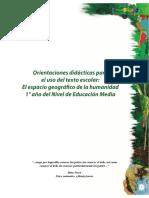 Orientaciones Educativas Geografia 1er Ano