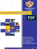 "Queensbury College ""London"" Course Fee List"